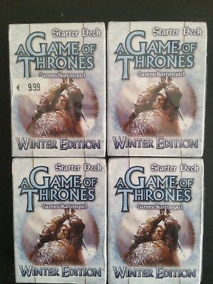 A Game of Thrones ccg 4x Winter Edition Starter Deck's neu sealed