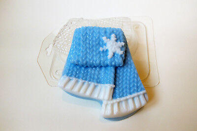 """""""Knitted scarf"""" plastic soap mold soap making mold mould"""