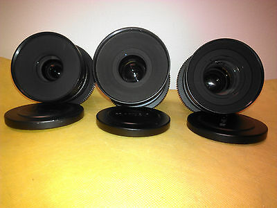 Canon EJ Series Prime Lens Set (used)
