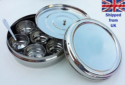 Spice Container Stainless Steel Spice Tin Superior Quality Masala Dabba