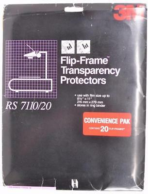 3M Flip-Frame Transparency Protectors with Pre-View RS7110/20 Pack of 20 - #01-1
