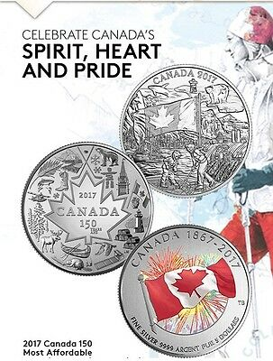 2017 CANADA 150 Silver 3 Coin Set  SPIRT, HEART OF OUR NATION & PROUDLY CANADIAN