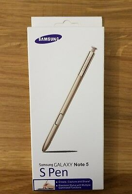 New! Authentic Samsung Galaxy Note 5 S-Pen Stylus OEM Original GOLD