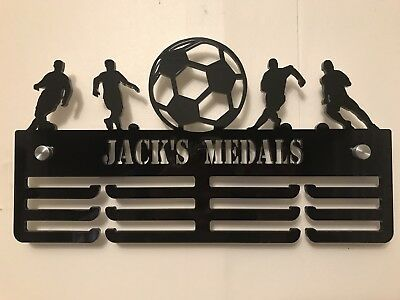 THICK 5mm Acrylic Personalised 3Tier Football Medal Hanger / Medal Holder / Rack