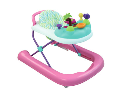 Baby Walker 2 in 1 Seated or Walk-Behind Position, Easy to Fold, Adjustable