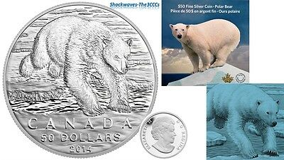 2014 Silver $50 POLAR BEAR Coin
