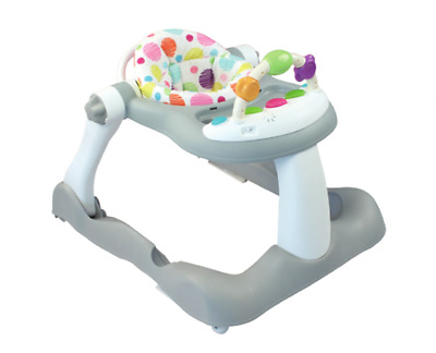 Baby Walker 3 in 1 Seated or Walk-Behind Position, Easy to Fold, Adjustable