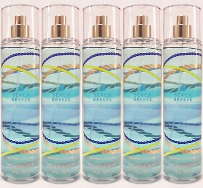 5 Bath & Body Works BEACH BREEZE Fine Fragrance Mist Spray
