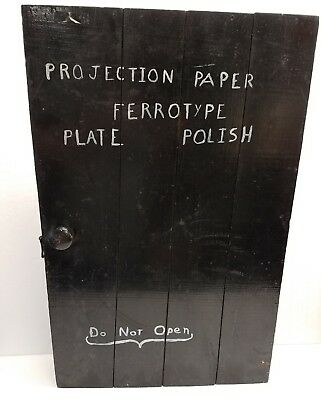 Vintage Photographic Studio Cabinet - Ferrotype Plate Polish - Projectic Paper