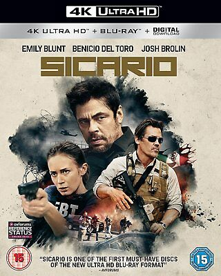 Sicario [4K Ultra HD] [2016] [Blu-ray] Brand New 5055761908381