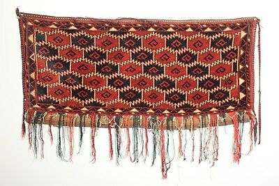 Antique Turkmen Ersari Animal Trapping Torba; Late 19th Century; Beshir; Mafrash