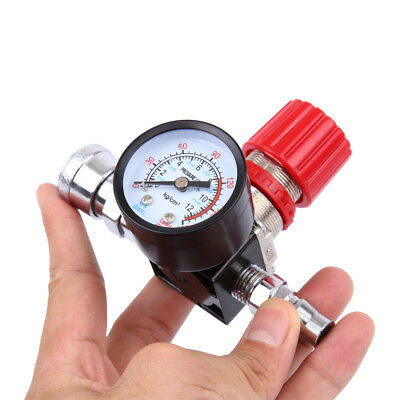 "1/4""Pneumatic Mini Air Control Pressure Gauge Compressor Relief Regulator Valve"