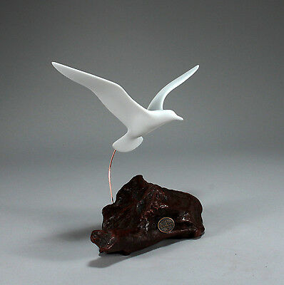 Seagull New direct from JOHN PERRY 9in wingspan Wings up Sculpture Statue Decor