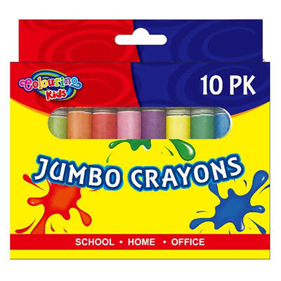 Jumbo Size Extra Thick Crayon Crayons Assorted Colors Kid Craft Gift Drawing