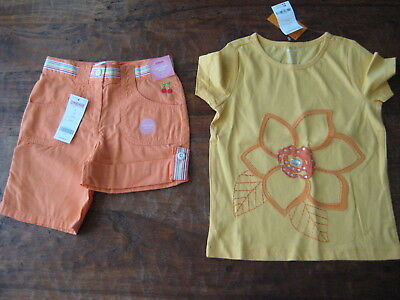 Gymboree Girls Outfit lot Tropical Bloom Tee T Shirt Shorts 5 6 Bling NWT Free