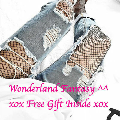 HOT New US Stock Women High Waist Fishnet ControlTop Pantyhose Stocking Black