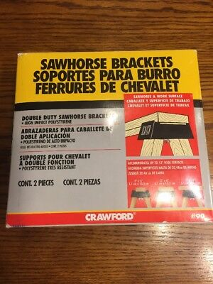 Double Duty ABS Plastic Saw Horse Bracket, 1-Pair #90, LeHigh Crawford