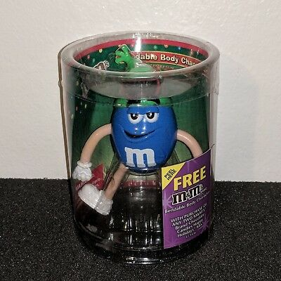 NEW M&M's Collectible Blue Bendable Figurine Character Christmas Decor Display