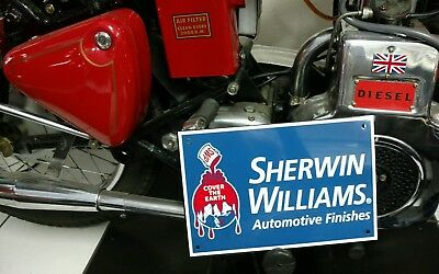 Sherwin Williams Auto Paint >> Sherwin Williams Automotive Paint Sign 22 99 Picclick