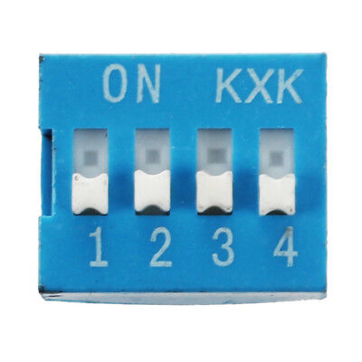 10 Pcs 2 Row 8 Pin 4P Positions 2.54mm Pitch DIP Switch Blue T6B4