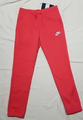 Nike Girl's Nsw Fleece Pants Tracksuit Bottoms Deep Coral 806326 645 -M / L / Xl
