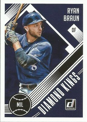 Ryan Braun #16 - 2018 Donruss - Diamond Kings - Milwaukee Brewers