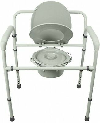 Bariatric Bedside Commode By Vive - 3 In 1 Toilet Chair - Extra Wide, And -