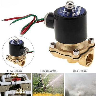 """1/2"""" AC 220V Electric Solenoid Valve Pneumatic Valve Brass for Water Oil Gas"""