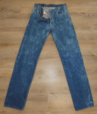 LEVIS 501 vintage 80s JEANS 34/38 BUTTON fly BLEACH denim destroy high waist USA