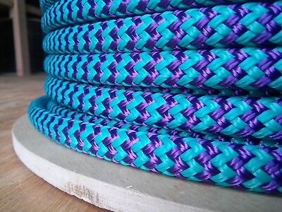 "7/16"" x 100 ft. Double Braid~Yacht Braid Polyester Rope.Herringbone.Made in USA."