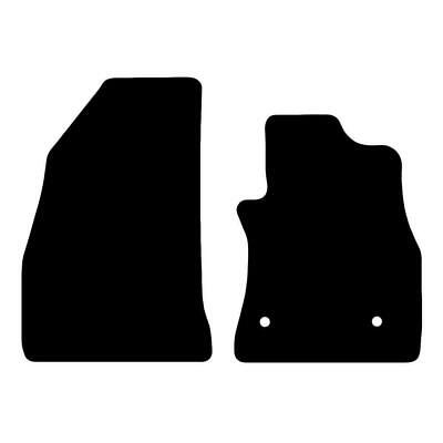 Tailored Black Car Floor Mats Carpets 2pc Set with Clips for Vauxhall Combo