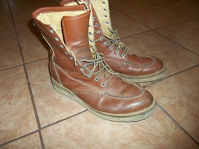 vintage moc toe vulcan work leather boots men sz 11