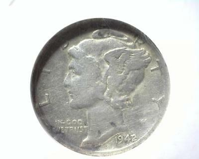 1942/41 Mercury Dime NGC Fine Details Improperly Cleaned 3188939-054