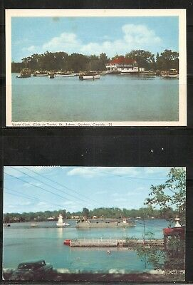 Canada. Yacht Club , St Johns quebec, The richeliu Riven. Unposted postcard
