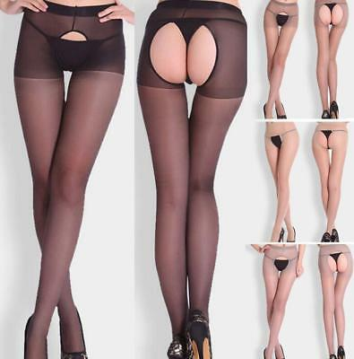 Hot! Women Fitness Open Back Breathable Sheer Pantyhose Socks Stockings Tights