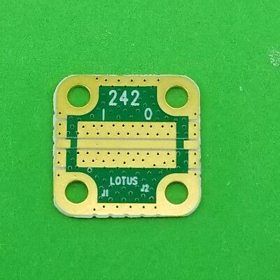 """Develop PCB RO4350 Grounded Coplanar Waveguide (9/16""""x9/16""""x0.02"""") 32Mil Trace"""