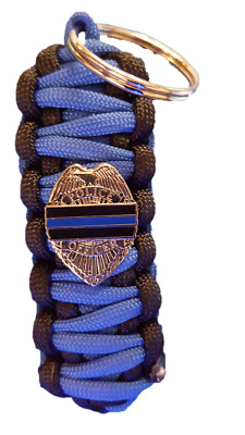 Police Shield Paracord  Keychain