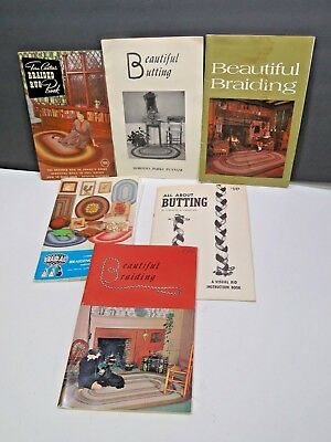 Set of 6 Rug Braiding Butting Books Catalog How To Patterns