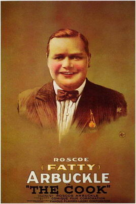 66709 The Cook Roscoe Fatty Arbuckle, Buster Keaton Wall Print Poster CA