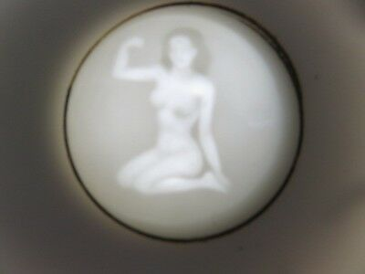 Dragonware Tea Cup Lithophane Nude Geisha Girl Flexing Muscle Moriage