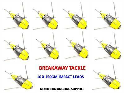 Pack of 3 Breakaway Tackle NEW Luminous Impact Lead Weights 150g