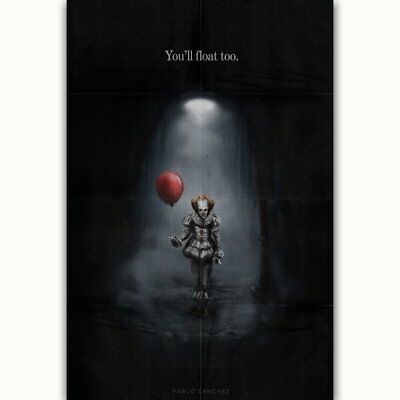 58217 IT Pennywise Stephen King Horror Wall Print Poster UK