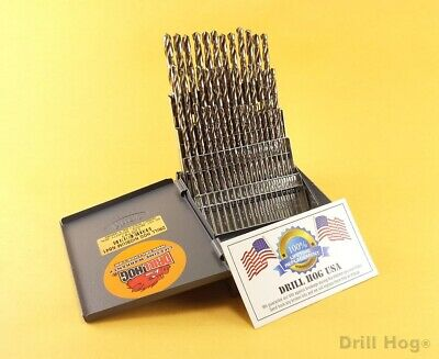 Drill Hog® 60 Pc NUMBER Drill Bit Set Wire Gauge Niobium NB41  Lifetime Warranty