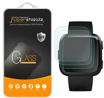 3X Supershieldz Tempered Glass Screen Protector for Fitbit Versa & Lite Edition