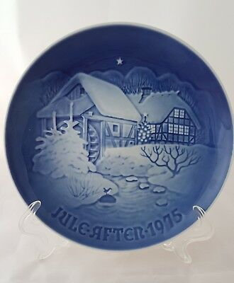 Jule After 1975 Blue Christmas At Old Water Mill Plate Bing & Grondahl Denmark