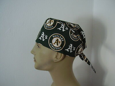 Surgical Scrub Hat Cap - MLB - OAKLAND A S - One size- Men Women d13b5460d8b7
