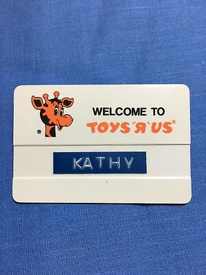 """Vintage Toys """"R"""" Us Employee Name Badge Pin From Early 1990's"""