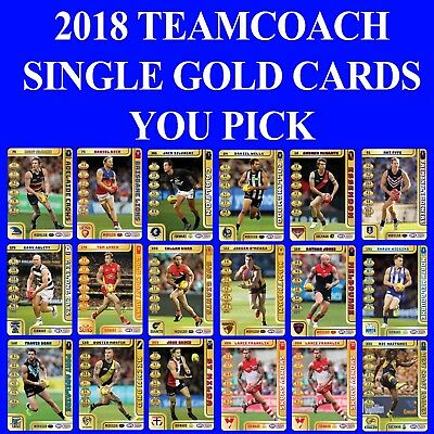 2018 Teamcoach Team Coach Gold Single Cards - You Pick The Card