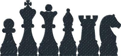 Stickmuster/Datei - Embroidery Schach Nr.02