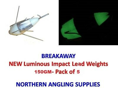 Pack of 5 Breakaway Tackle Traditional Breakout Weights 130g